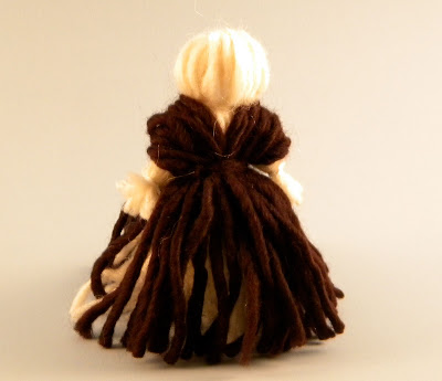 how to make a cute lady pilgrim yarn doll