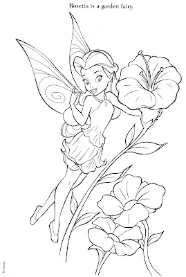 Tinkerbell and Fairy Friends Coloring Pages