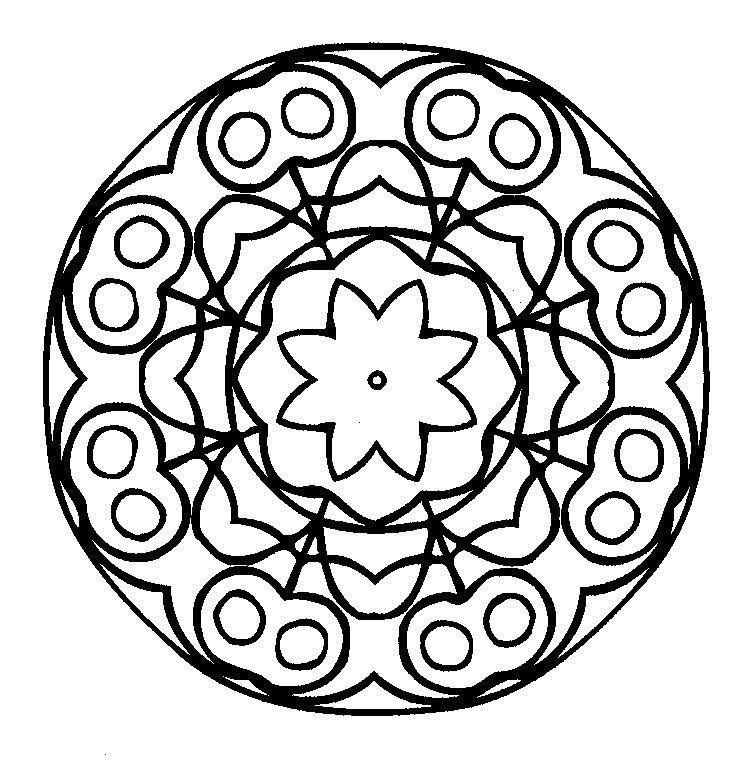Mandalas lindas para colorir - Desenhos e Riscos