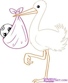 Como desenhar uma cegonha