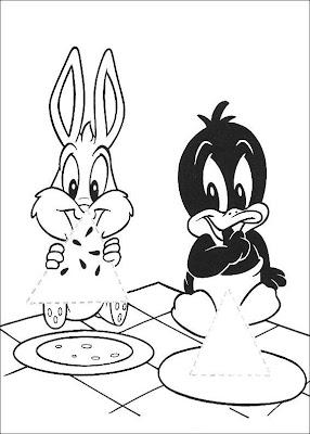 Coelho e pato comendo