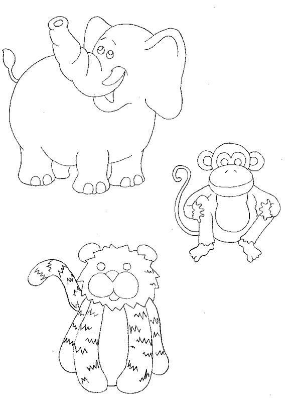 animais da floresta para colorir desenhos e riscos