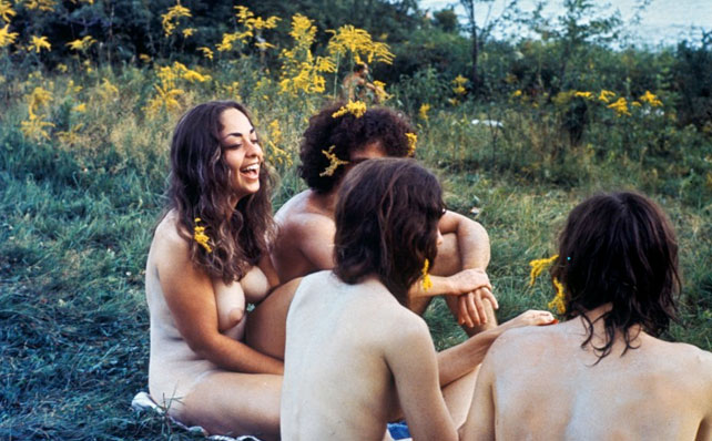 Naked hippies. Presumably late 60s, but of course could certainly be the ...