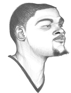 Kevin Durant NBA Player Art Sketch Drawing