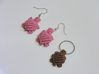 macrame jewelry turtle pattern