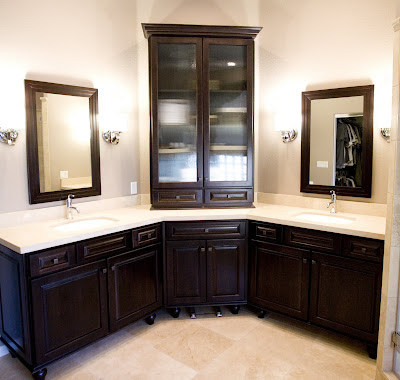 Bathroom Double Vanity on Corner Bathroom Vanity   Bathroom Picture