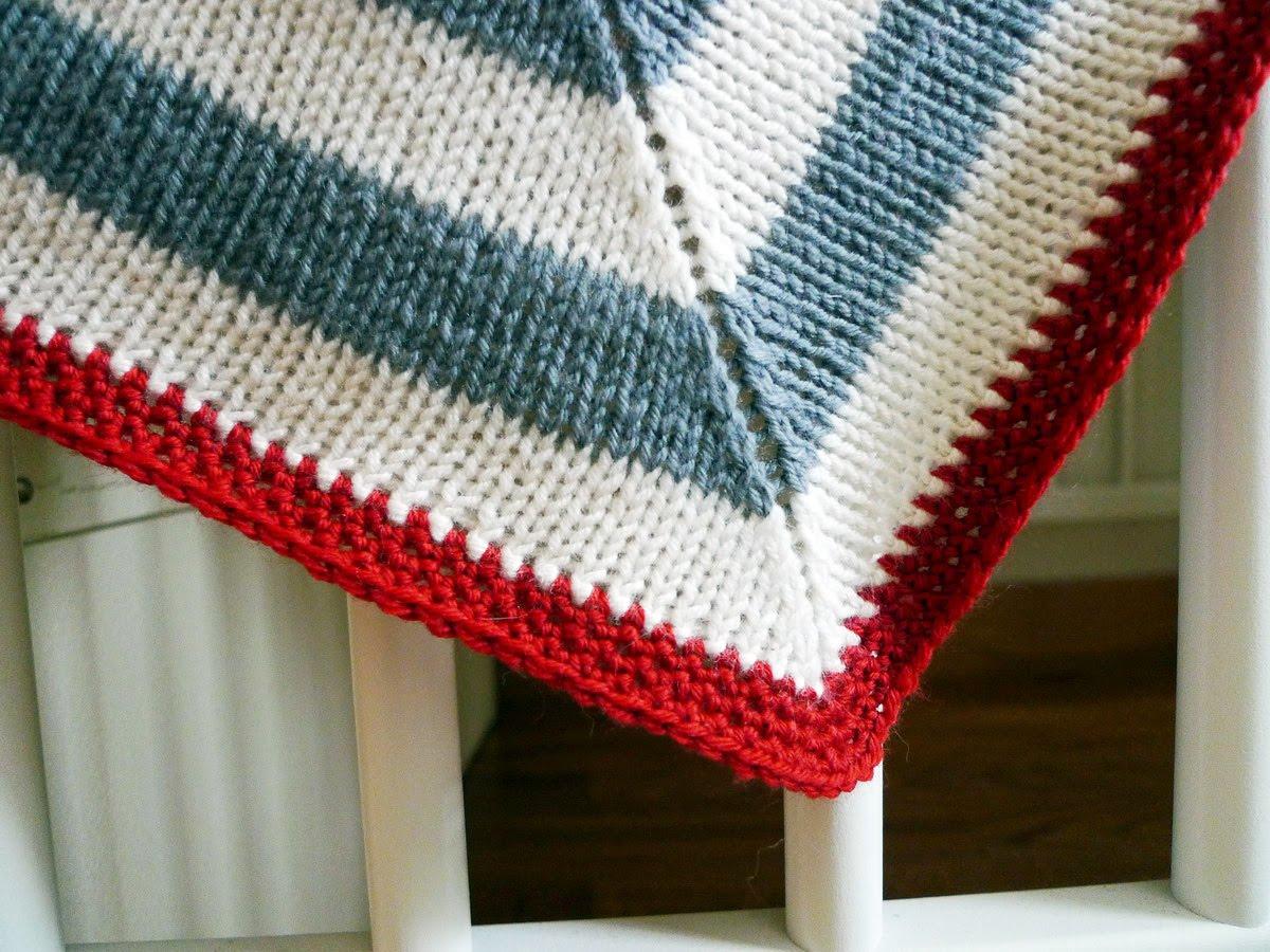 Mitered Knitting Patterns : Chocolate a chuva: Mitered baby blanket