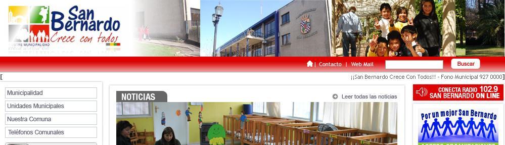 Nueva oficina del registro civil en san bernardo chile for Oficina registro