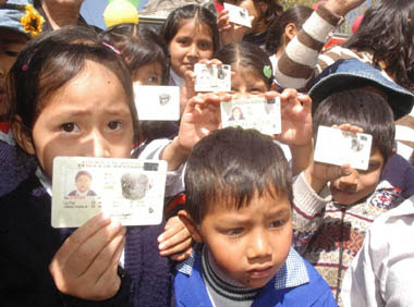 Escolares en Bolivia