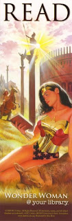 bookmark marcapáginas wonder woman dc comics illustration by alex ross