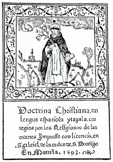 Title page of Doctrina Christiana, en lengua española y tagala