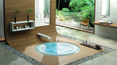 Bathroom Atmosphere with Overflow Bathtub by KÄSCH