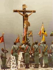 SATÍSIMO CRISTO DE LA BUENA MUERTE ( Encontrado en 1994, en la taquilla de un legionario en Bosnia.