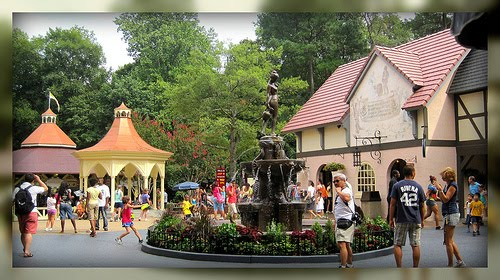 Fountain In Germany, Busch Gardens Williamsburg, Williamsburg, Virginia