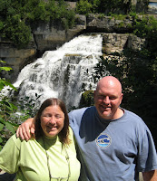 Nanci and Ralph at Inglis Falls in Owen Sound