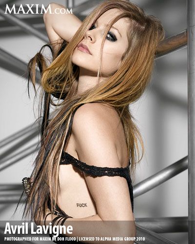 Avril Lavigne Tattoo Maxim Pictures