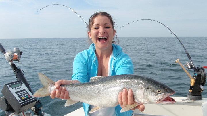 Lake michigan sports fishing charters are a great time to for Fishing charters michigan