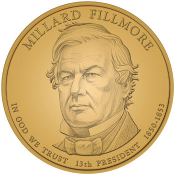 Millard Fillmore Dollar Designer and Engraver: Don Everhart
