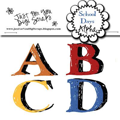 http://justforyoudigiscraps.blogspot.com/2009/09/school-days-alpha.html