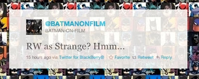 "batman on film tweet robin williams as hugo strange - Robin Williams en ""The Dark Knight Rises"". Rumor!!!!!!!"