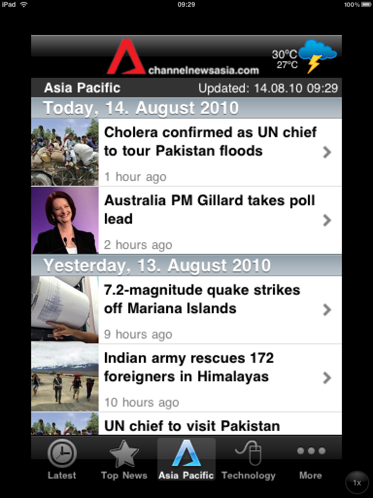 Our family blog - the H family...: CHANNEL NEWS ASIA on iPad