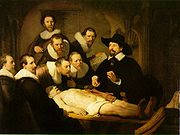 Lectia de anatomie a doctorului Tulp, Rembrandt, 1632, Colectia Mauritshuis, Haga