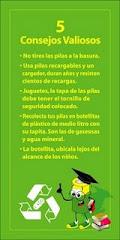 CONSEJOS SOBRE EL RECICLADO DE LAS PILAS