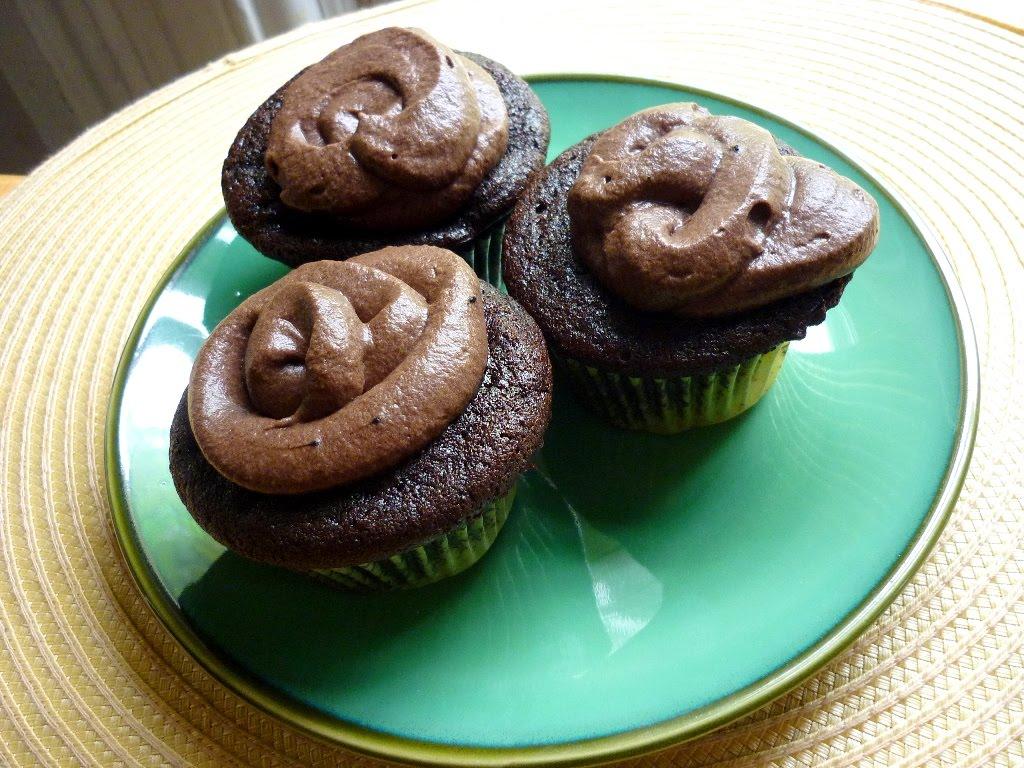 Food for Poems: Chocolate Malt Cupcakes