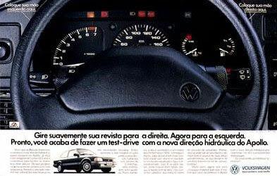Propaganda da direção hidráulica do Volkswagen Apollo