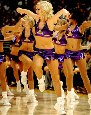 Cheerleaders in Thongs