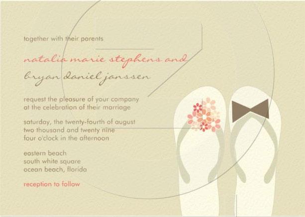 Beach Printable Wedding Invitation Free to print from Printable Invitation