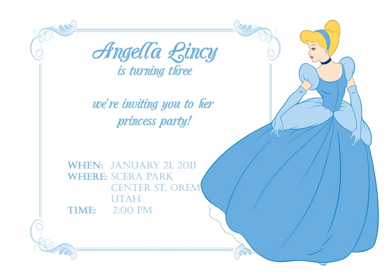 Cinderella Birthday Invitation Printable Wedding Invitations