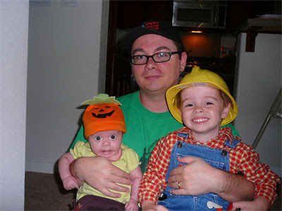 Me and the Halloweenies.
