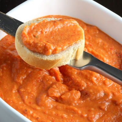 Sugar Cooking: Roasted Red Pepper White Bean Dip