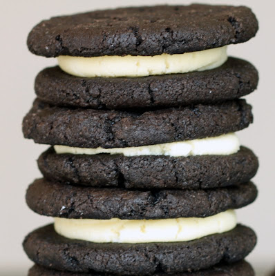Pile of homemade oreos