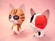 Origami de gatitos