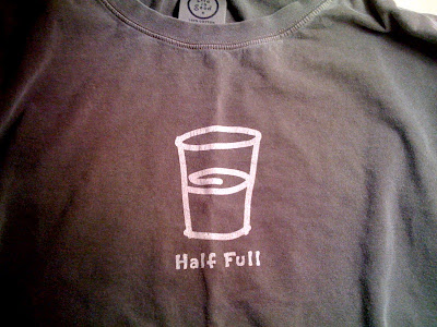 Half Full - Life is Good T-Shirt