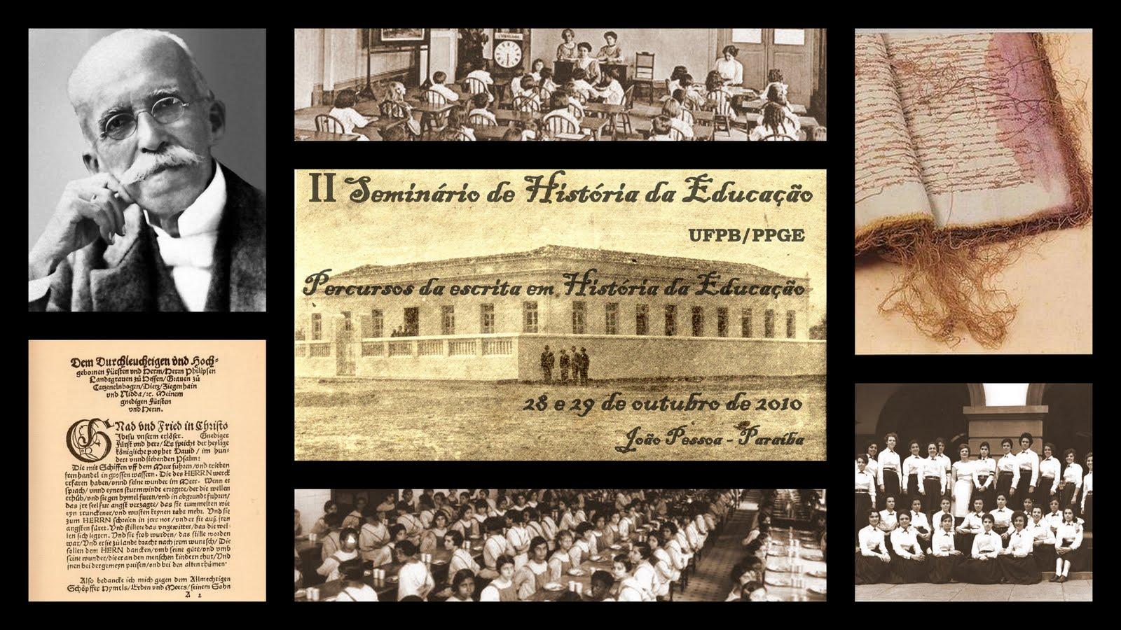 II SEMINÁRIO DA LINHA HISTÓRIA DA EDUCAÇÃO