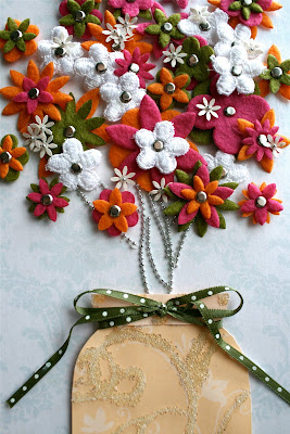 spring crafts: flower picture tutorial