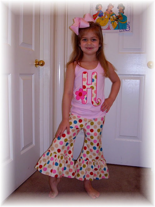 Customer Cutie in Polka Dot Ruffle Pant and Initial Tank $75
