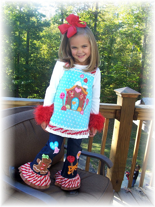 Gingerbread House Wrap Top Applique Jeans Set 2008 $155