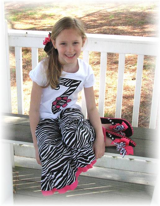 Birthday  Number Tee/Pant Set With Suzannes Matching Flip Flops $75