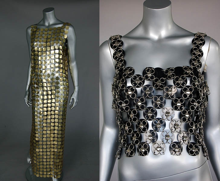 vintage paco rabanne 80s metal discs Two NYC Designer Show Houses, Part 2