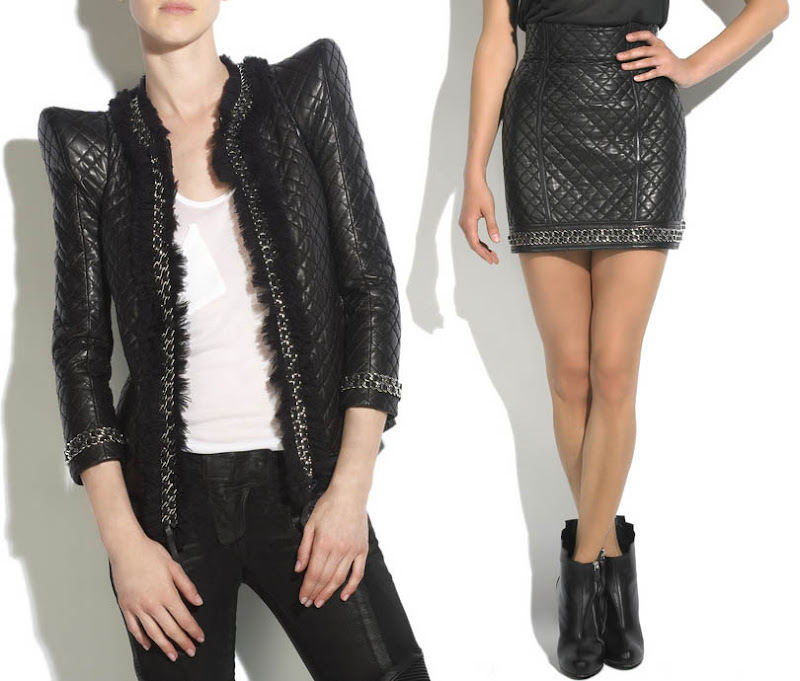 quilted leather jacket. Balmain Quilted Leather Jacket