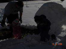 The first time Tyler got to play with Tailey in the snow