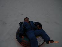 Tyler sledding