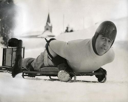 Bobsleigh, skeleton: lord Northesk in St. Moritz, Switzerland, 1935. Nationaal Archief / Spaarnestad Photo