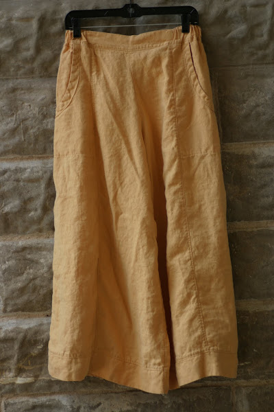 Ochre Linen Garbo Pants