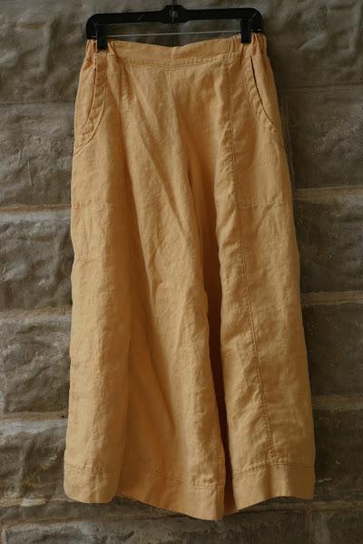 Ochre Linen Garbo Pants