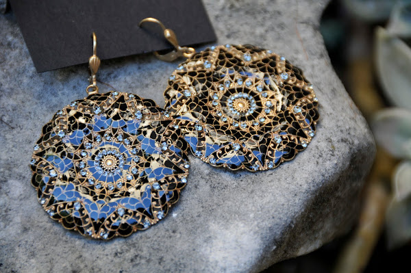 Enamel and Crystal earring